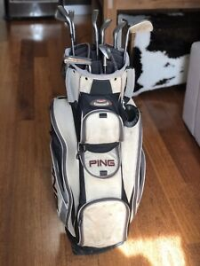 Golf Clubs and Ping Golf Bag