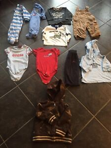 Boys 12 month sleepers, long sleeves, onsies, hoodies and pants
