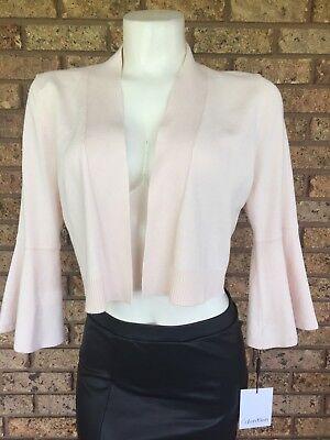 Pink Shrug - Calvin Klein Shrug Bell Sleeve Knit Womens Open Front Pink Size Medium NWT
