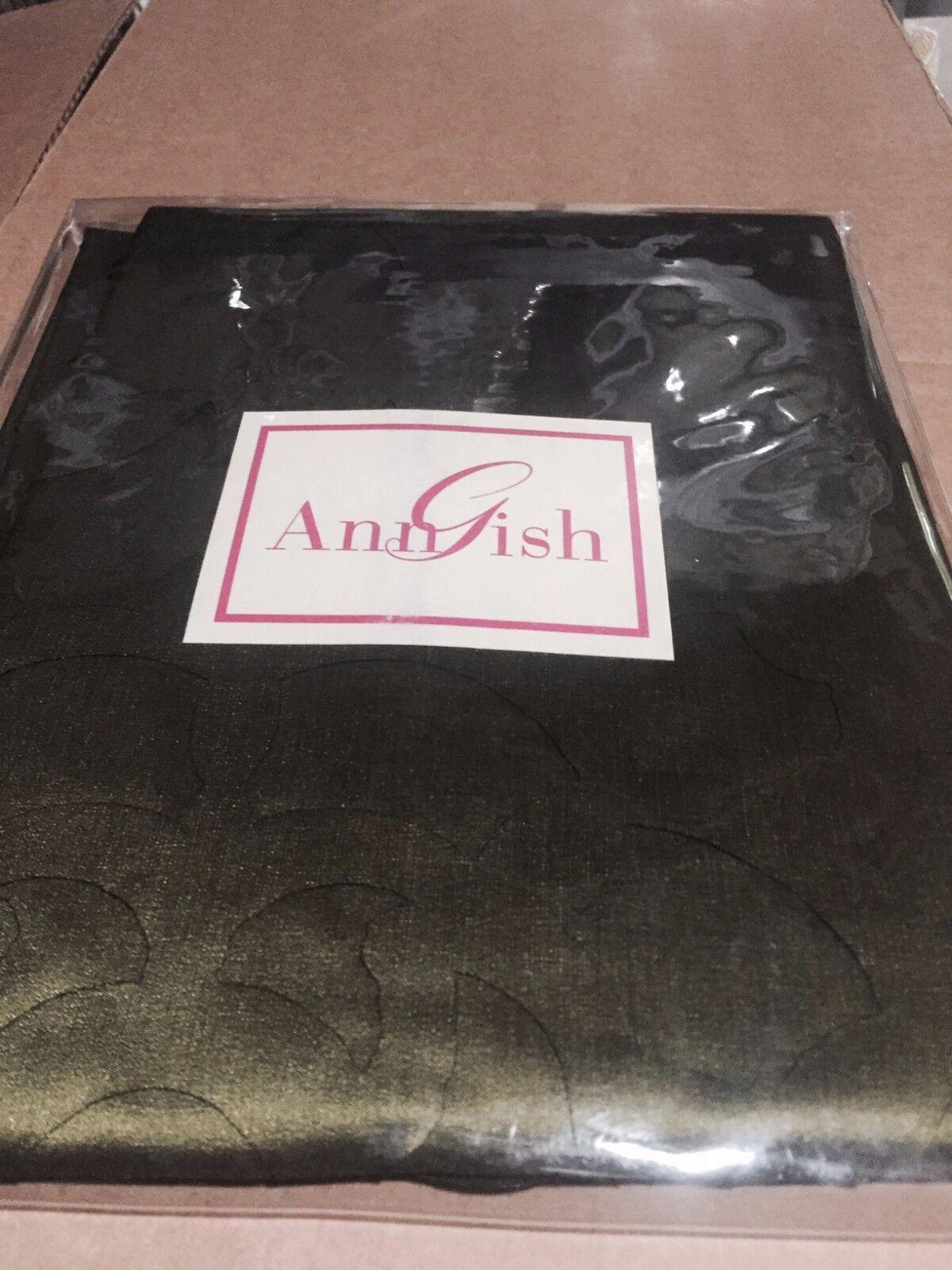 $225! NWT Ann Gish Pom Pom Cypress Green Standard Pillow Sham GORGEOUS!
