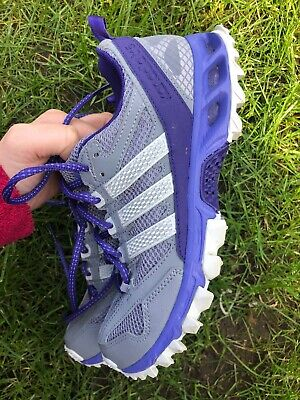 ADIDAS Ladies Kanadia 5 TR Grey Running Trail Fitness Trainers Shoes Size 4