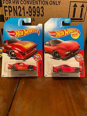 Hot Wheels Red Mazda RX-7 K-Mart Exclusive (Lot Of 2) Then and Now