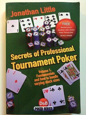 Secrets of Professional Tournament Poker by Jonathan Little Paperback Book