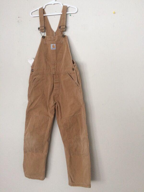 Kids Size 6 Carhartt Brown Overalls -