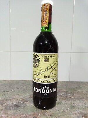 Botella Rioja Viña Tondonia Sexto año embotellado en 1978. Magnífico vino.
