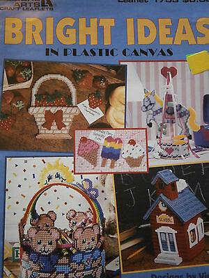 1997 Leisure Arts Bright Ideas in Plastic Canvas Pattern Book Basket Horse Bear