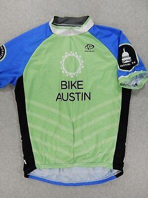 Primal BIKE AUSTIN 3 4 Zip Short Sleeve Cycling Jersey (Mens XL) 4f6b9e0cd