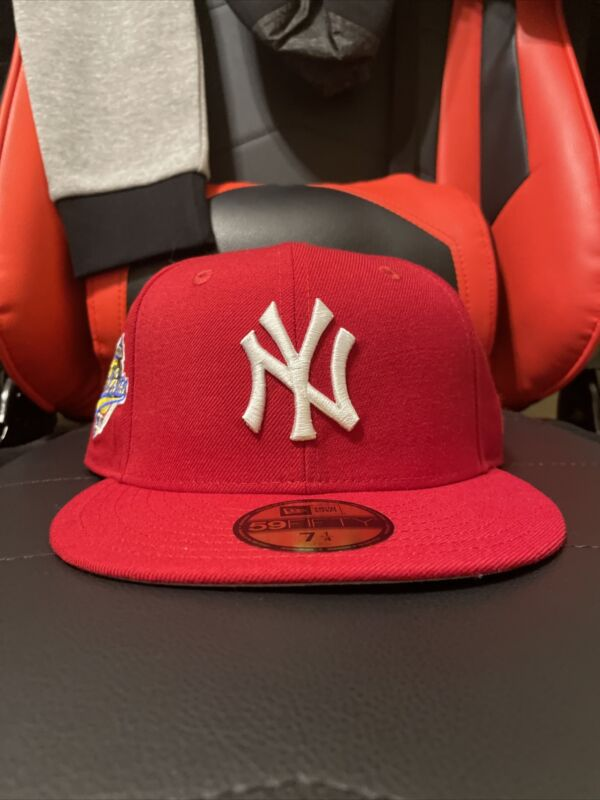Hat Club Exclusive 7 1/4 New Era 59fifty Red Yankee Fitted Cap Grey UV