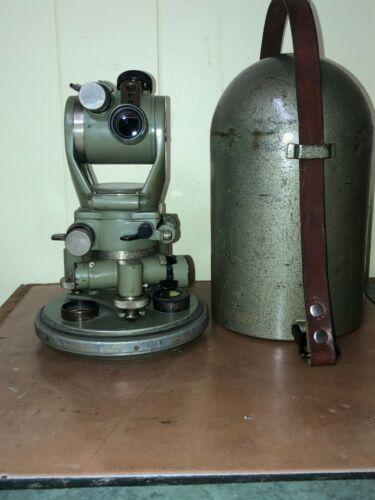 Wild Heerbrugg G10 Compass Theodolite Army Magnetic North  Swiss Surveyor!
