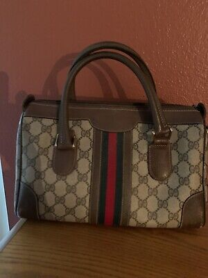 Gucci Vintage web Boston Bag