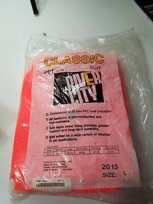 River City Classic 201 Series Protective Suit-orange-large 3 Piece Set