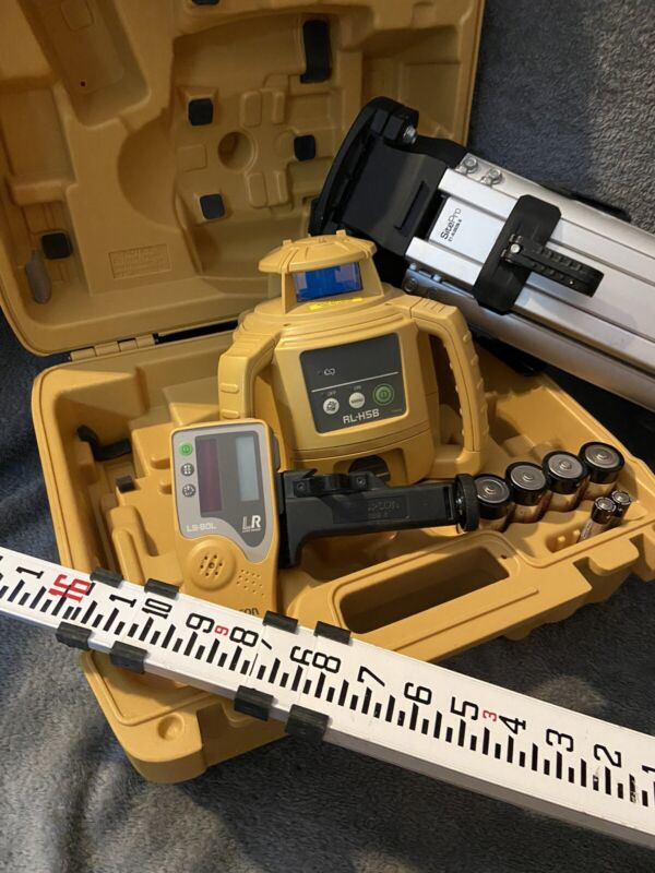 Topcon RL-H5B self leveling Laser LevelWith Case & Site-Pro tripod -Barely Used