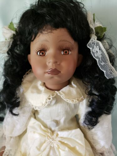Porcelain doll - rare African American doll