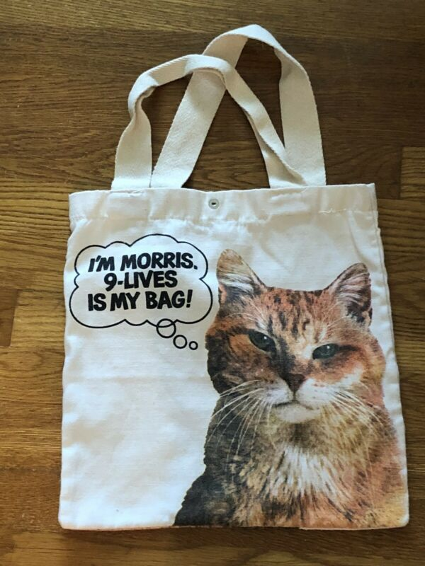 Vintage Morris The Cat Canvas Tote Bag Back Pack 9-Lives Advertising Promo