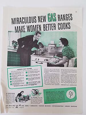 1939 Modern Gas Ranges Stove Make Women Better Kitchen Cooks Original