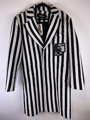 "MISBHV Striped ""G"" Wool Coat"