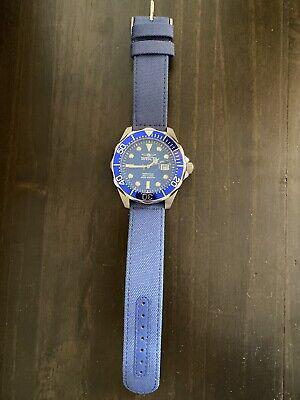 Invicta Grand Diver Blue Carbon Fiber, Silver Case Watch
