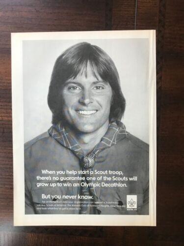 1980 vintage original print ad Boy Scouts Of America - Bruce Jenner