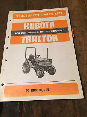 Kubota B6200hst B7200hst Illustarted Parts List Catalog