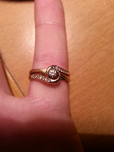 Gold and diamond engagement ring set Albury Albury Area Preview