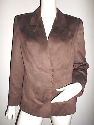 SUPERBE blazer VESTE CLASSIQUE FEMME ASPET DAIM CAPUCCINO PLUSIEUR BOUTON T:M/L