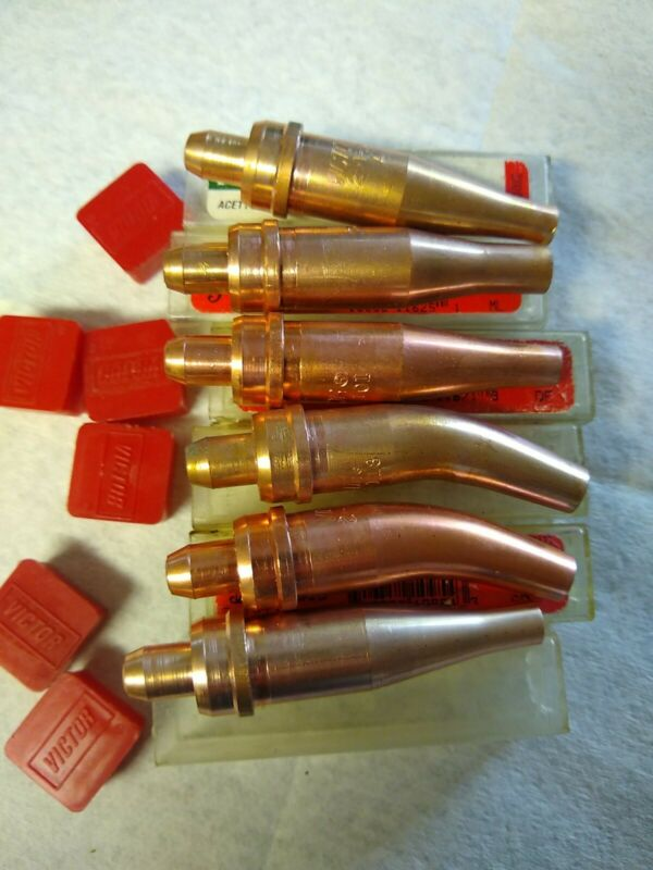 Assortment of 6 new victor cutting torch tips. #1