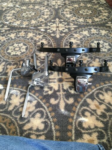 "Tama Starclassic Star Cast hoop mounts for toms, 10"" and 12"" & 2 Tama tom arms"