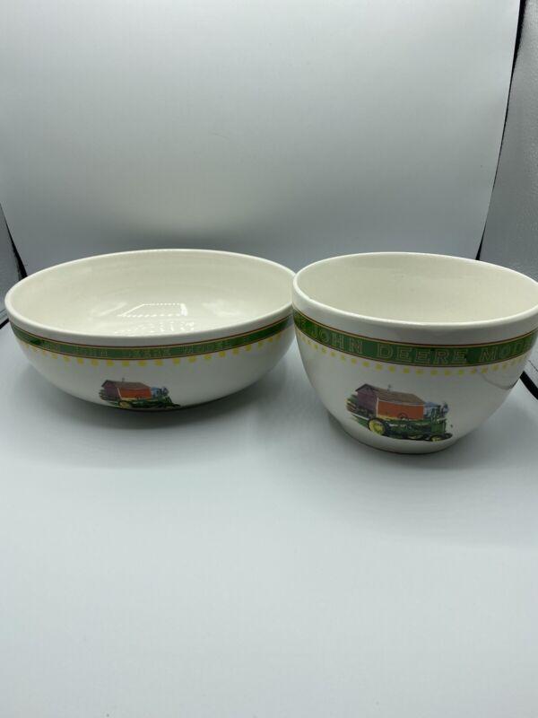 Vtg John Deere Model B Serving Bowls