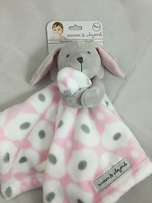 Adorable Pink Spotted Bunny Nunu Lovey Baby Girl Blanket - Blankets and Beyond