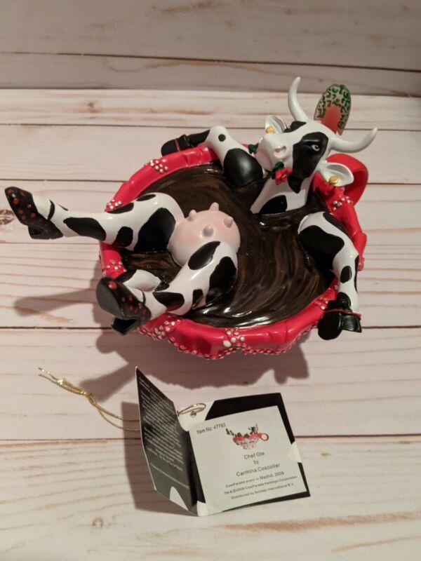 Cow Parade Chef Ole Cow Figure Figurine