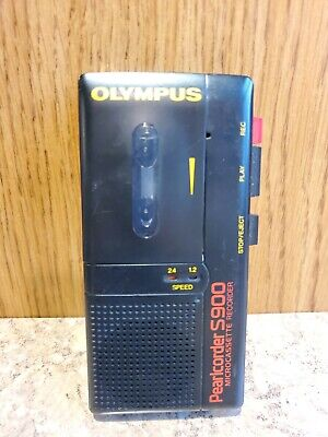 Olympus Pearlcorder S900 Micro Cassette Recorder Preowned - Tested Works