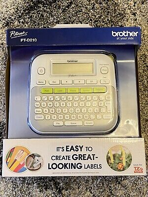 Brand New Brother Ptd210 Pt-d210 P-touch Easy Compact Label Maker - White