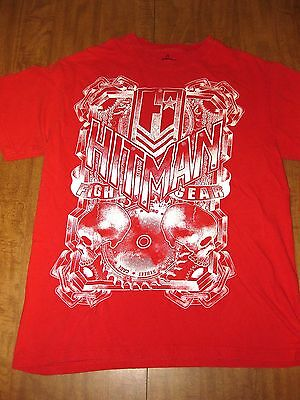 HITMAN FIGHT GEAR med T shirt MMA skulls chains Mixed Martial Arts sawblade