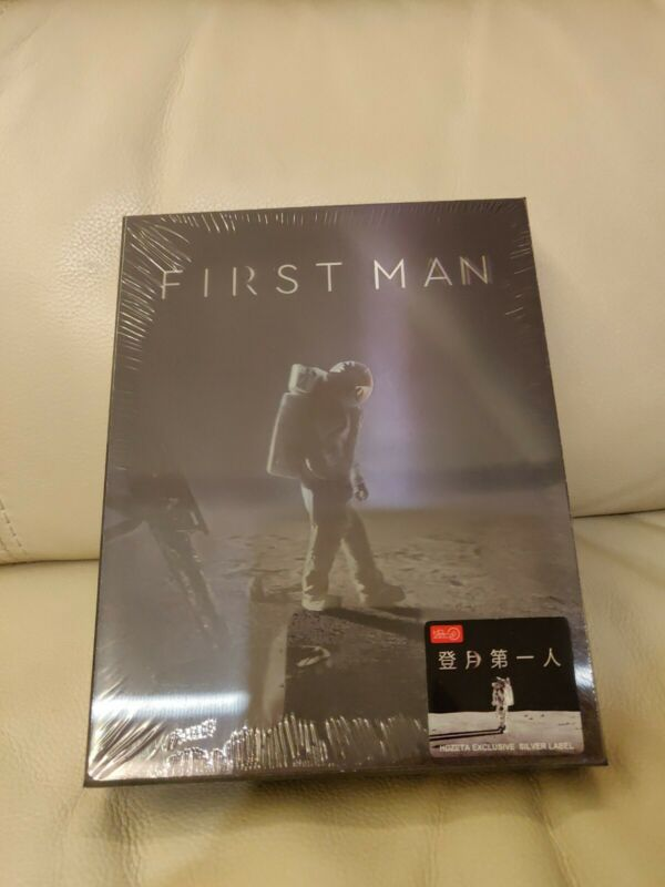 First Man HDZeta Blu-ray Steelbook,  Sealed/Mint,  Lenticular Slipcover