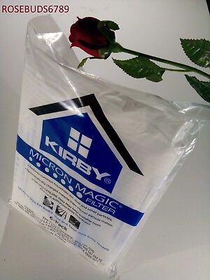 GENUINE Kirby Vacuum White Cloth Hepa Filter Allergy Disposable Bags UNIVERSAL Cloth Filter Bag