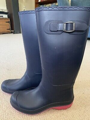 Kamik ladies Wellington boots - size 5UK. Blue with a pink sole