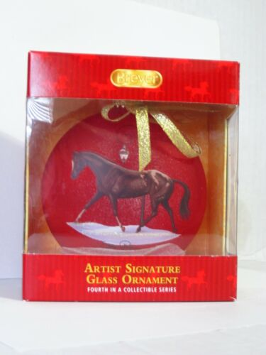 Breyer Horse Artist Signature Blown Glass Christmas Tree Ornament 4th in Series