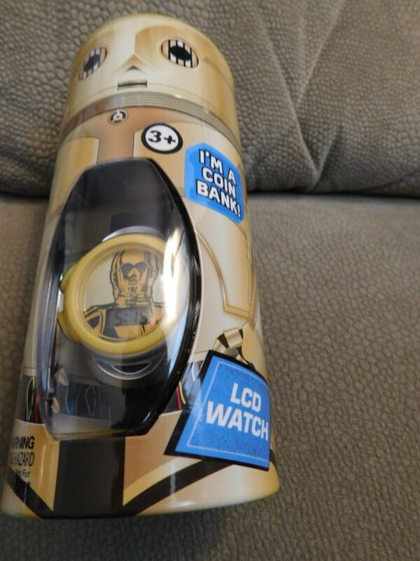 Star Wars C3PO LCD Watch and Coin Bank