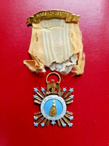 1896 National Society Colonial Dames Gold Membership Badge Named/Nambered/BB&B