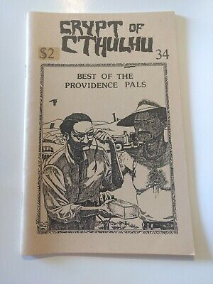 CRYPT of CTHULHU #34 1985 Best of The Providence Pals,  H.P. LOVECRAFT FANZINE (Best Hp Lovecraft Collection)