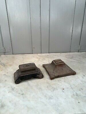 Couple antique French wooden crucifix bases