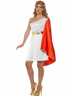 Greek Roman Goddess Toga Womens Fancy Dress Costume Outfit Ladies - Womens Toga Kostüm