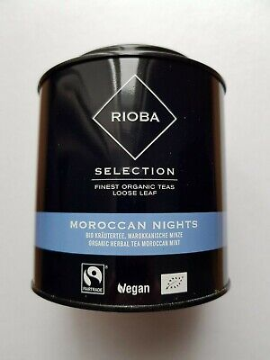 Rioba Selection # BIO Kräutertee Marokkanische Minze 100 g Dose loser Tee  (Tee Marokkanische Minze)