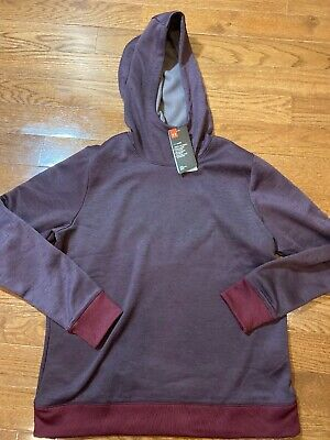 Womens Size Large Under Armour Hoodie Maroon Cold Gear 1332687-600