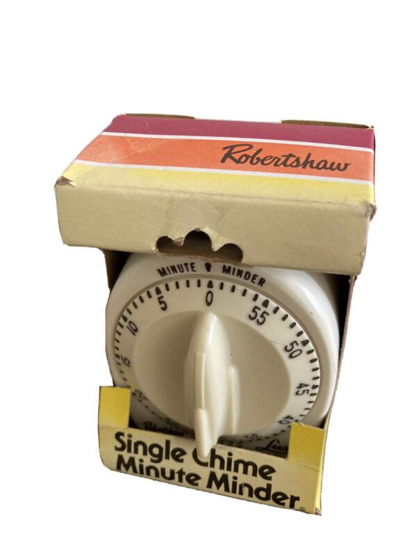 ROBERT SHAW LUX MINUTE MINDER KITCHEN TIMER VTG ATOMIC ROCKET KNOB IN BOX USA