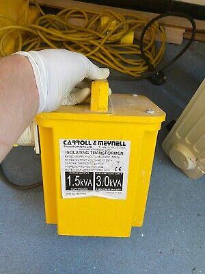 Carroll & Meynell 1.5kVa / 3.0kVa 110V Transformer (CM3000/200/PT) Twin outlet.