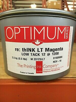 The Printing Ink Offset Low Tack Magenta 5.5lb Can