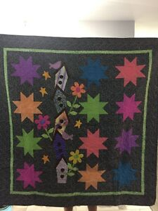 """Seasonal Housing"" handmade quilt for sale."