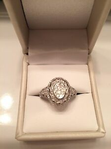 NEW lower PRICE!!! Diamond and white gold ring