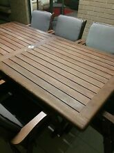Solid wood outdoor table + 6 chairs Seaford Rise Morphett Vale Area Preview